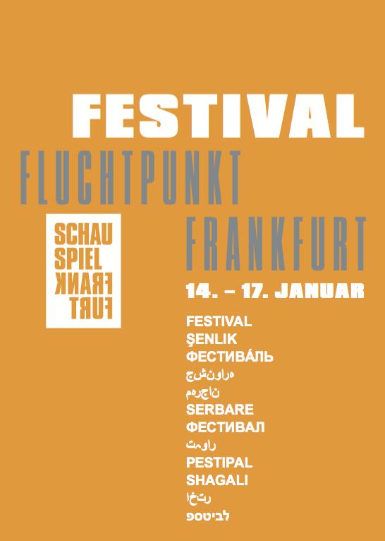Flyer vom Festival Fluchtpunkt Frankfurt